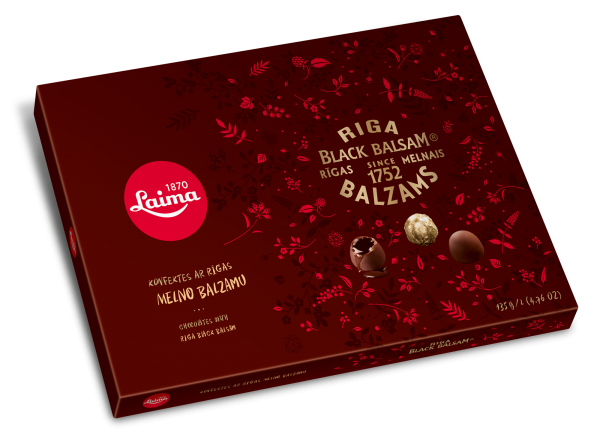 LAIMA CHOCOLATES WITH RIGA BLACK BALSAM
