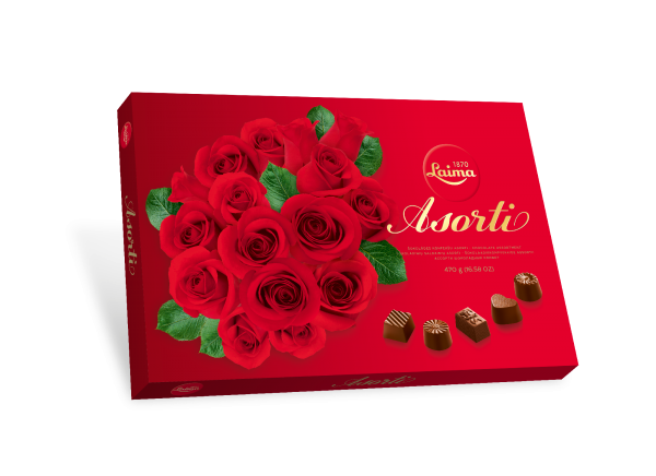 LAIMA CHOCOLATE ASSORTMENT DARK ROSES