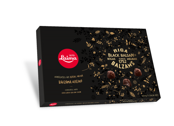 LAIMA DARK CHOCOLATES WITH RIGA BLACK BALSAM CREAM