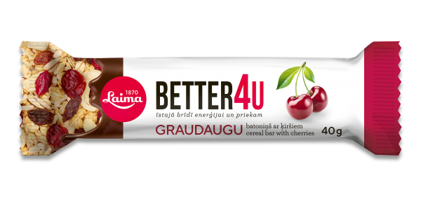 LAIMA BETTER4U CEREAL BAR WITH CHERRIES