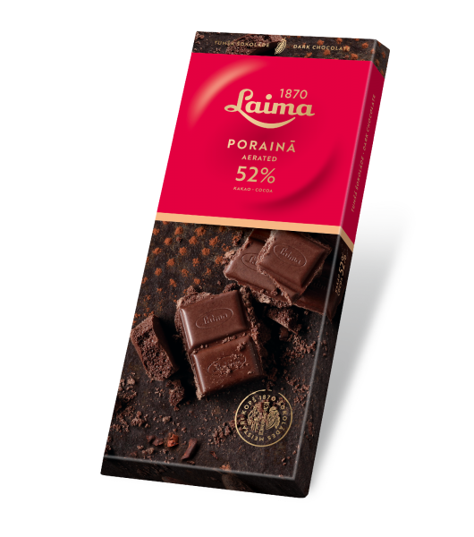 LAIMA AERATED DARK CHOCOLATE 52%
