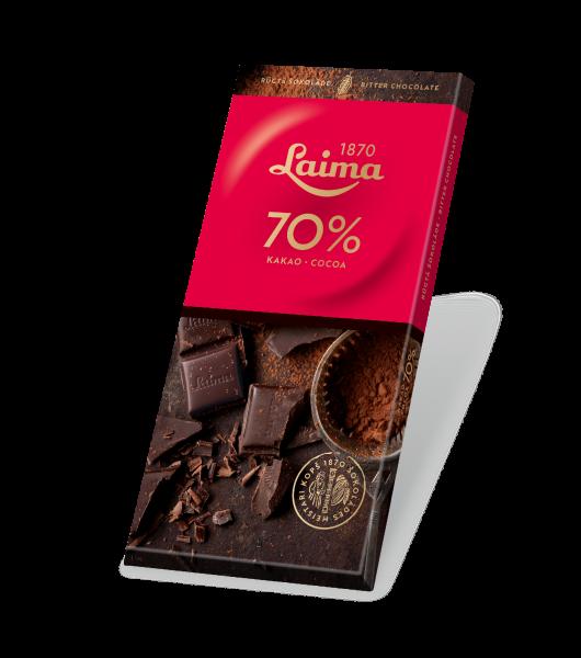 LAIMA BITTER CHOCOLATE 70%