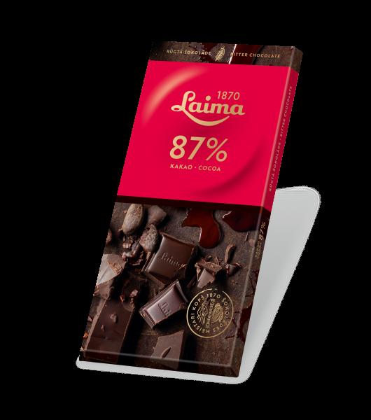 LAIMA RŪGTĀ ŠOKOLĀDE 87%