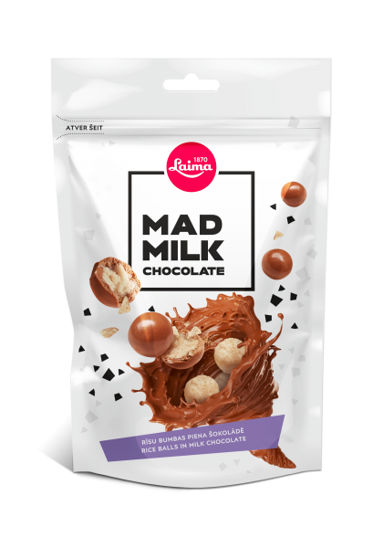 MAD MILK SWEET RICE CRISPS IN MILK CHOCOLATE