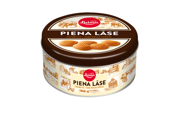 LAIMA CARAMELS WITH MILK FILLING PIENA LĀSE