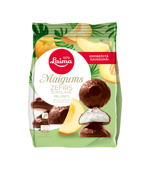 LAIMA MAIGUMS MELON ZEPHYR IN CHOCOLATE