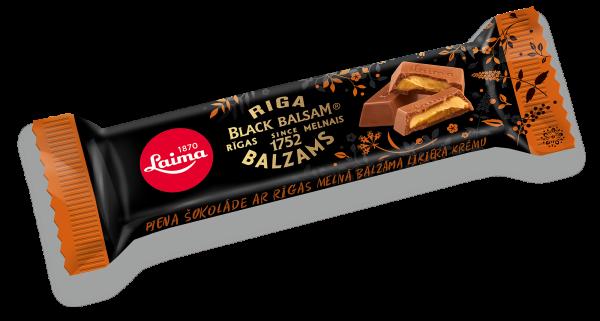 LAIMA MILK CHOCOLATE WITH RIGA BLACK BALSAM LIQUEUR CREAM FILLING