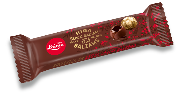 LAIMA DARK CHOCOLATE CANDIES WITH RIGA BLACK BALSAM