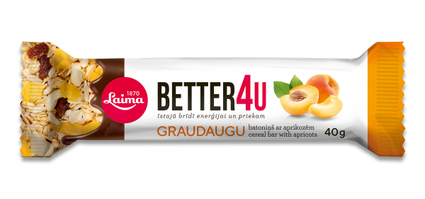 LAIMA BETTER4U CEREAL BAR WITH APRICOTS