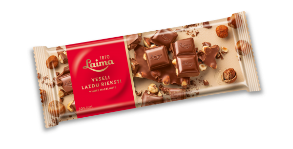 LAIMA MILK CHOCOLATE WITH WHOLE HAZELNUTS