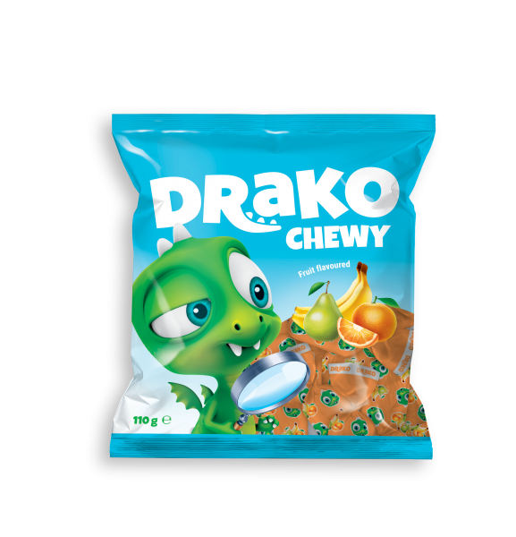 DRAKO CHEWING CANDIES WITH FRUIT FLAVOUR