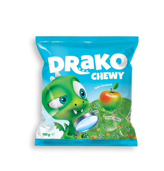 DRAKO CHEWING CANDIES WITH APPLE FLAVOUR